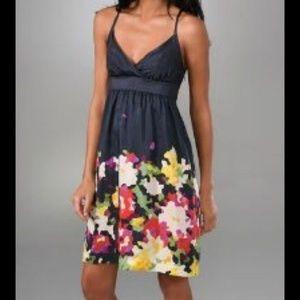 Theory Leene Pixel FloralSilk Dress